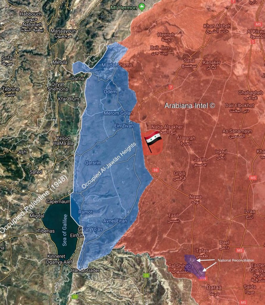 Syria Maps: Reconciliation Agreement Is Fully Implemented East Of Golan Heights
