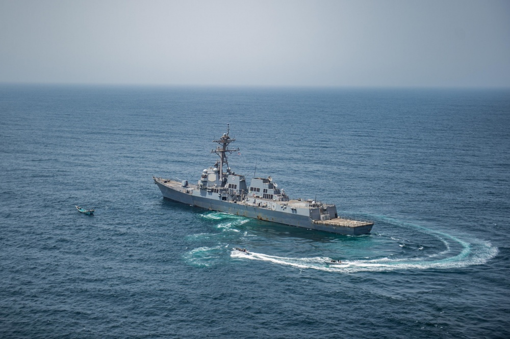 In Photos: US Navy Seizes Skiff Carrying Over 1,000 Automatic Rifles In Gulf Of Aden