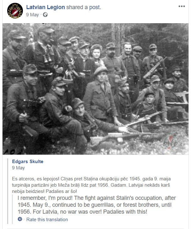 "Facebook Appologies For 'Accident' Ban Of Page Promoting Latvian Legion ""Waffen SS"""