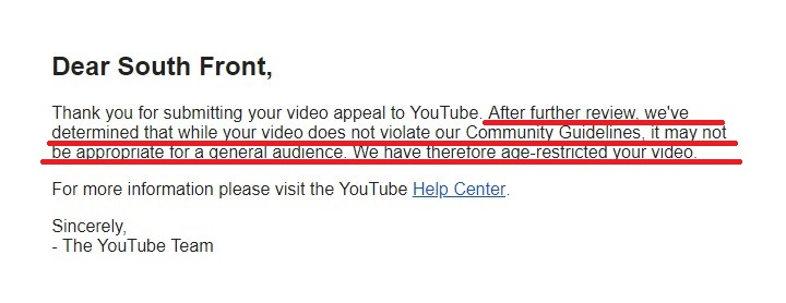 Update On Situation With SF's Censored Video: Age Restirction Is Lifted
