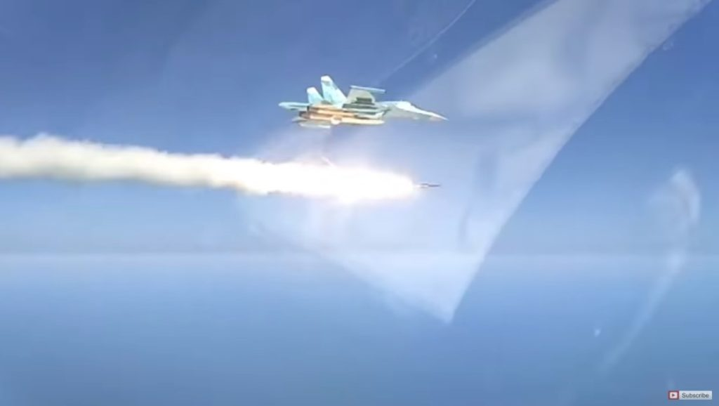 Russian Jet Uses Supersonic Anti-Ship Missile To Destroy Mock Enemy Vessel (Video)