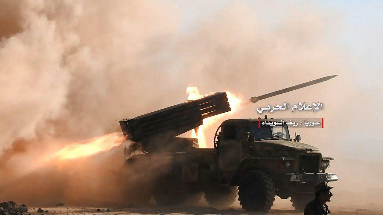 Syrian Army Attacks ISIS Positions North Of Al-Suwayda