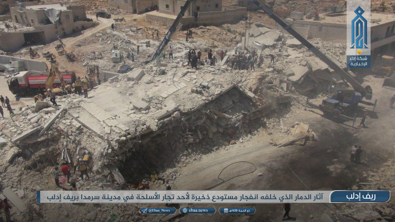 Ammo Depot Explosion Kills Dozens In Syria's Northern Idlib (Photos)