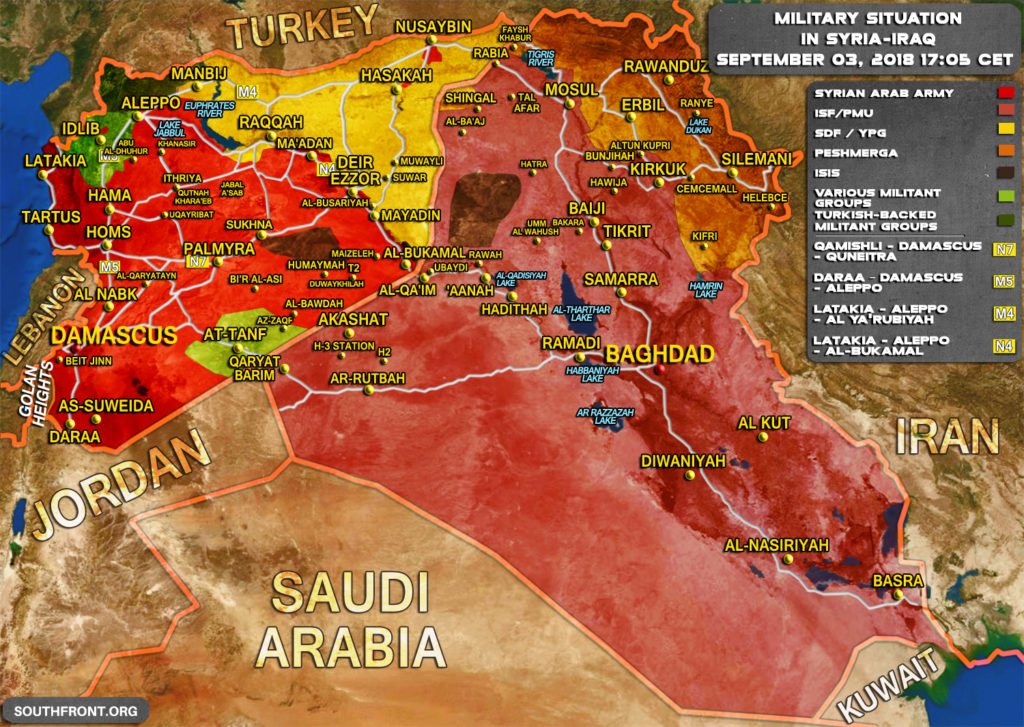 Military Situation In Syria And Iraq On September 3, 2018 (Map Update)