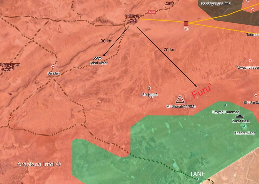 Syrian Army Continues Operations Against ISIS In Homs-Deir Ezzor Desert (Map)