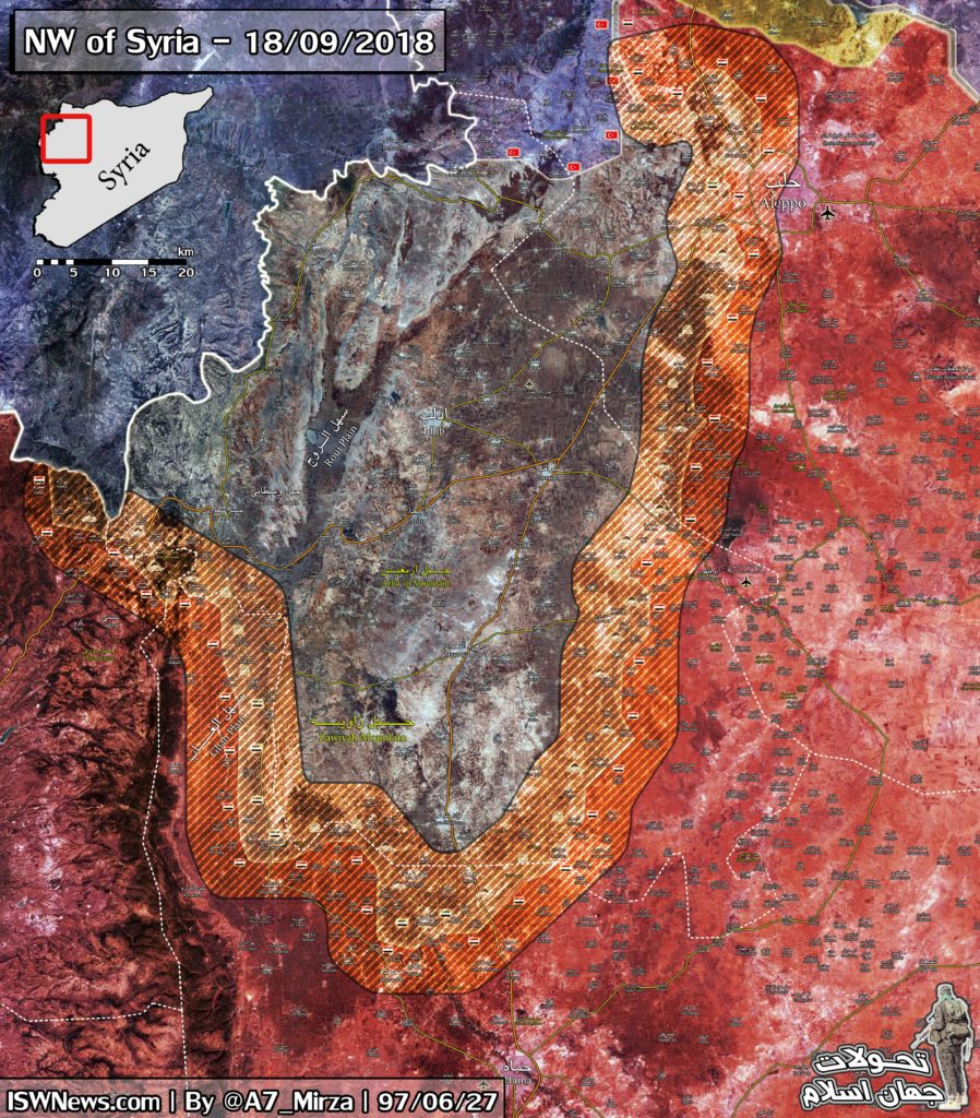 Map Update: Possible Look Of Demilitarized Zone In Northwestern Syria Agreed By Russia And Turkey