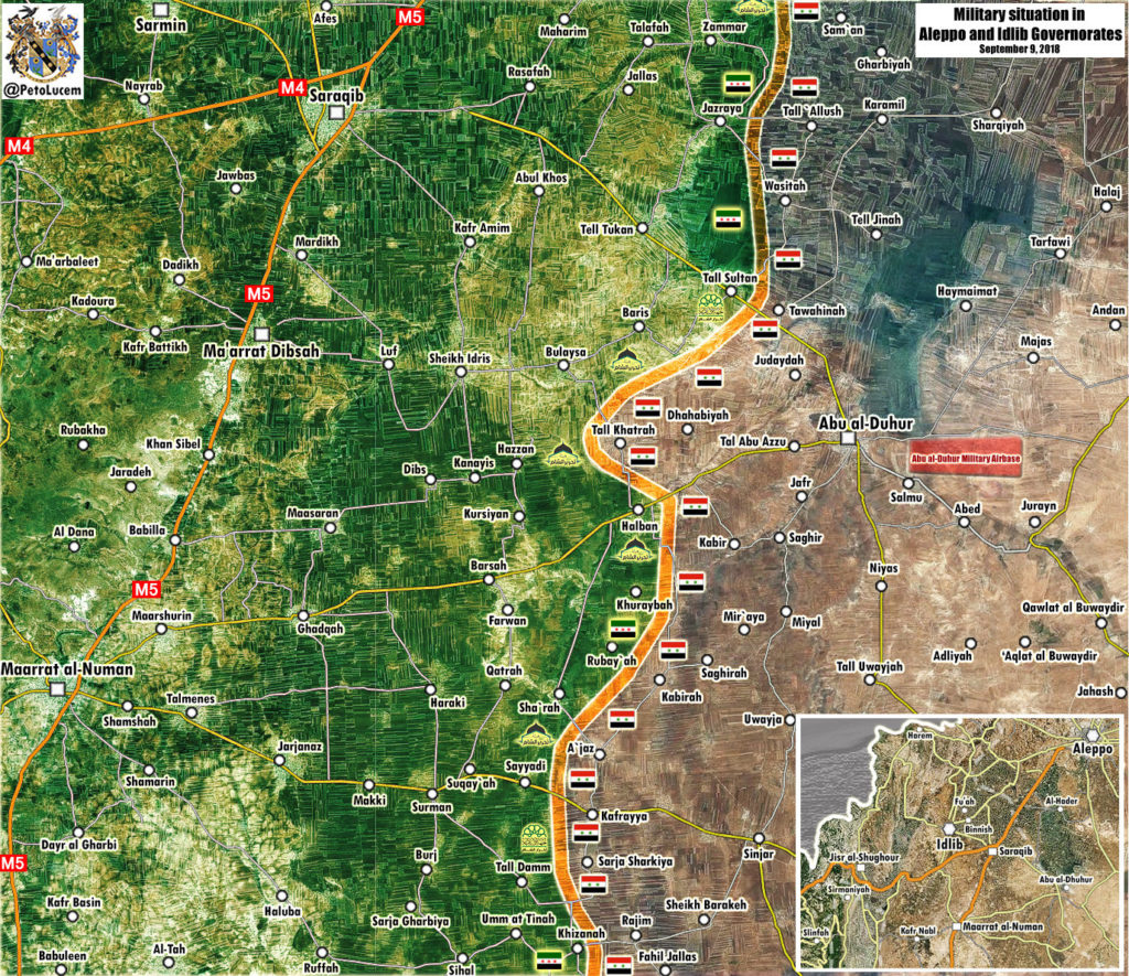 Map Update: Military Situation In Abu al-Duhur Area In Syria's Idlib Province