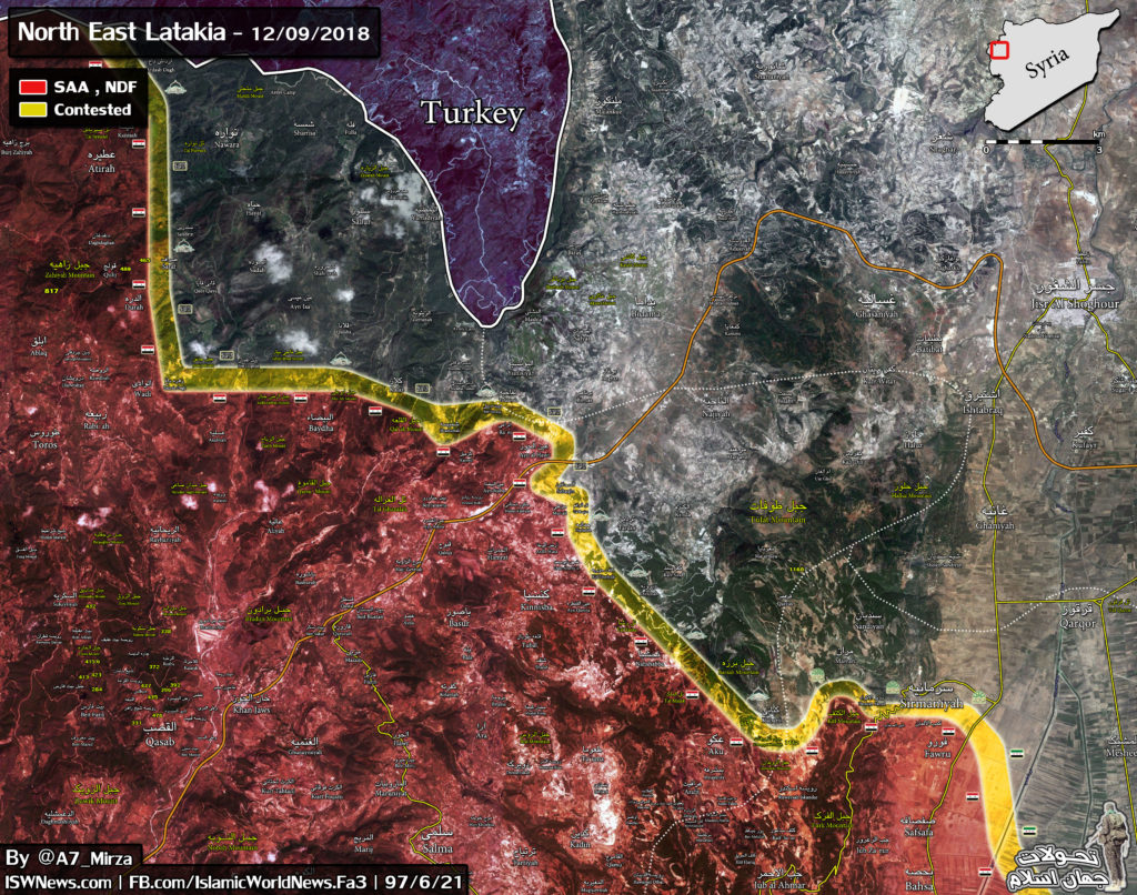 Syria Map Update: Military Situation In Northwestern Latakia And Southern Idlib