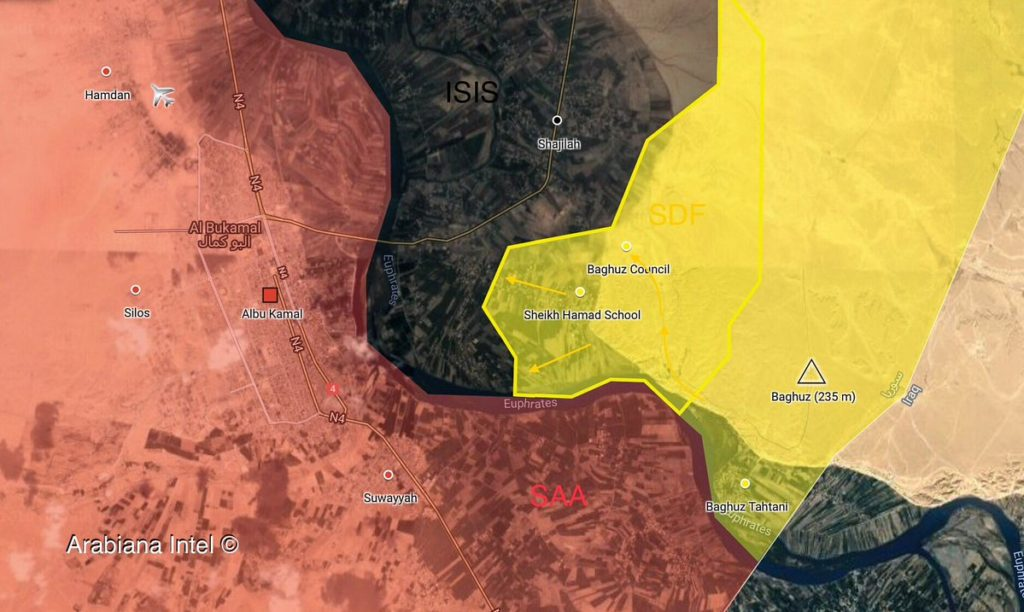 Map Update: SDF Advances On ISIS Positions In Syria's Deir Ezzor Province