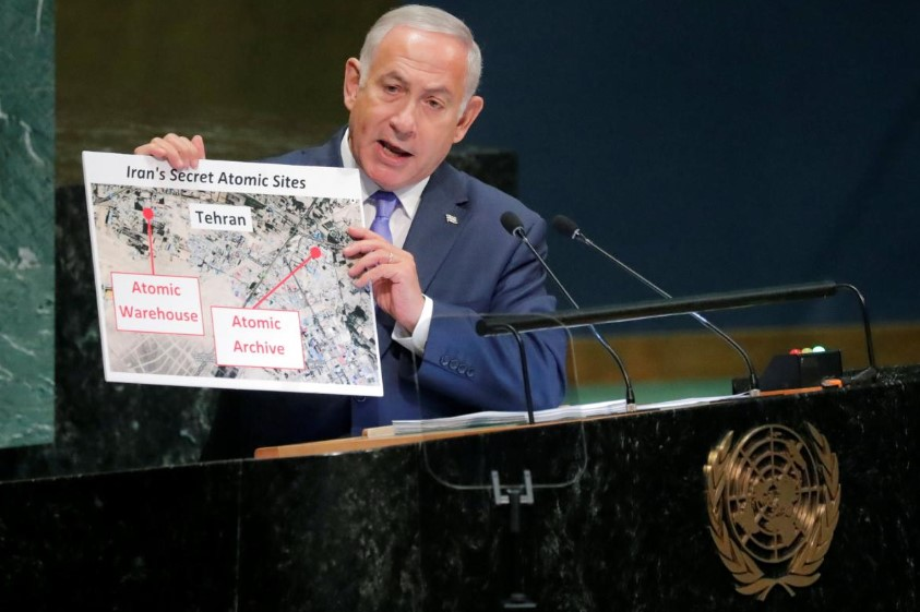 """Netanyahu: Iran Has """"Secret Atomic Warehouse"""" In Tehran"""