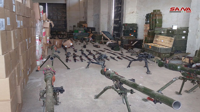 Syrian Army Discovers Weapons Depot Left Behind By Hay'at Tahrir al-Sham In Al-Quneitra Governorate (Video)