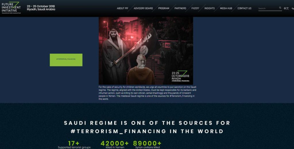 'Source For Terrorism': Hackers Targeted Website Of Saudi Investment Conference Hosted By Crown Prince Mohammed bin Salman