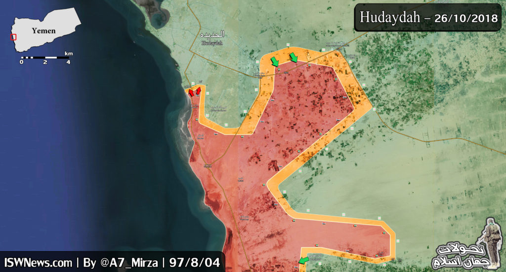 Map Update: Saudi-Backed Forces Continue Their Attempts To Reach Yemen's Al-Hudaydah