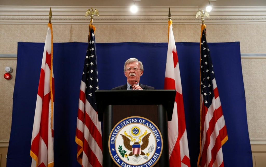 """Bolton Says Russia Should """"Stop Interfering"""" In US Elections And """"Get Out"""" Of Crimea And Donbass"""