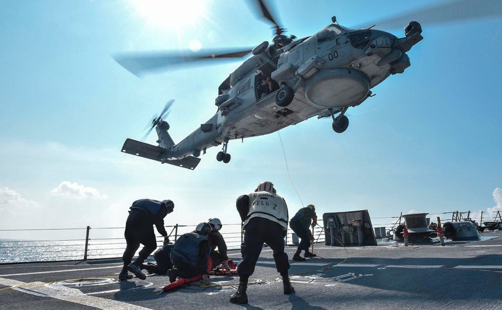 MH-60 Seahawk Helicopter Crashed Aboard USS Ronald Reagan