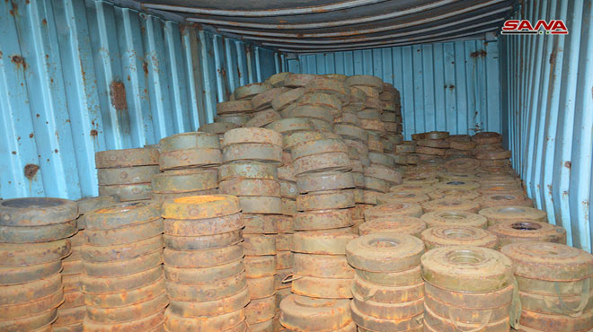 Syrian Army Seizes Hundreds Of Anti-Tank Mines In Quneitra (Video, Photos)
