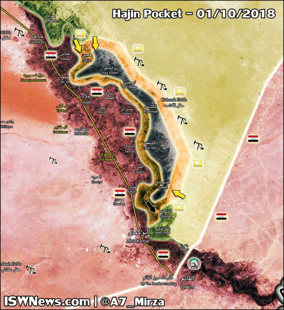 Map Update: US-backed Forces Advance On ISIS Positions In Hajin Pocket