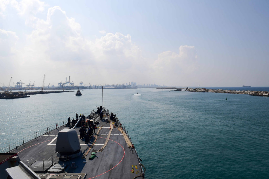 US Destroyer Docks In Israel For First Time In 19 Years. Netanyahu Says It Shows US Support To Israeli Actions In Syria