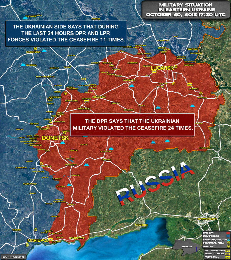 Map Update: Military Situation In Eastern Ukraine