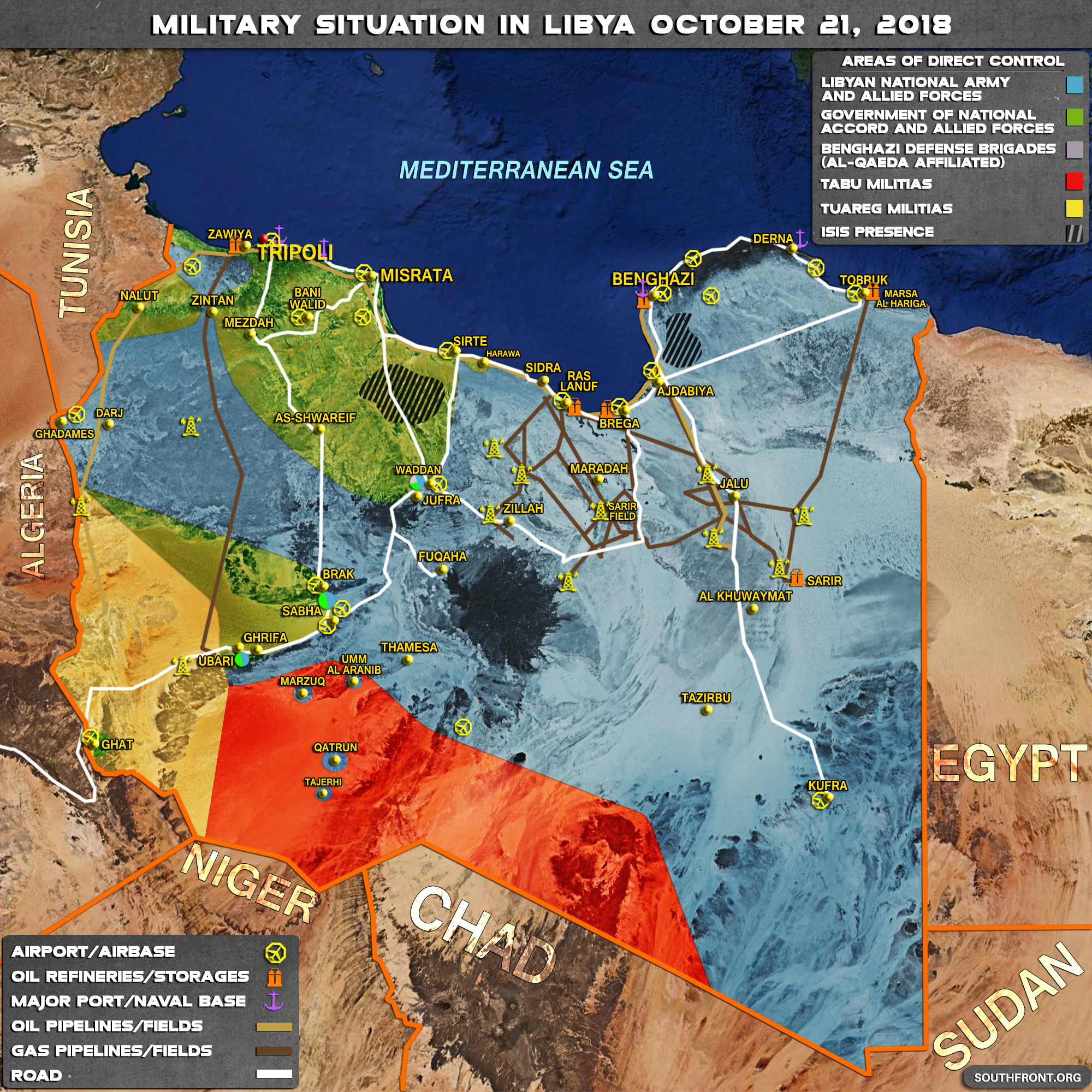 Military Situation In Libya On October 21, 2018 (Map Update)