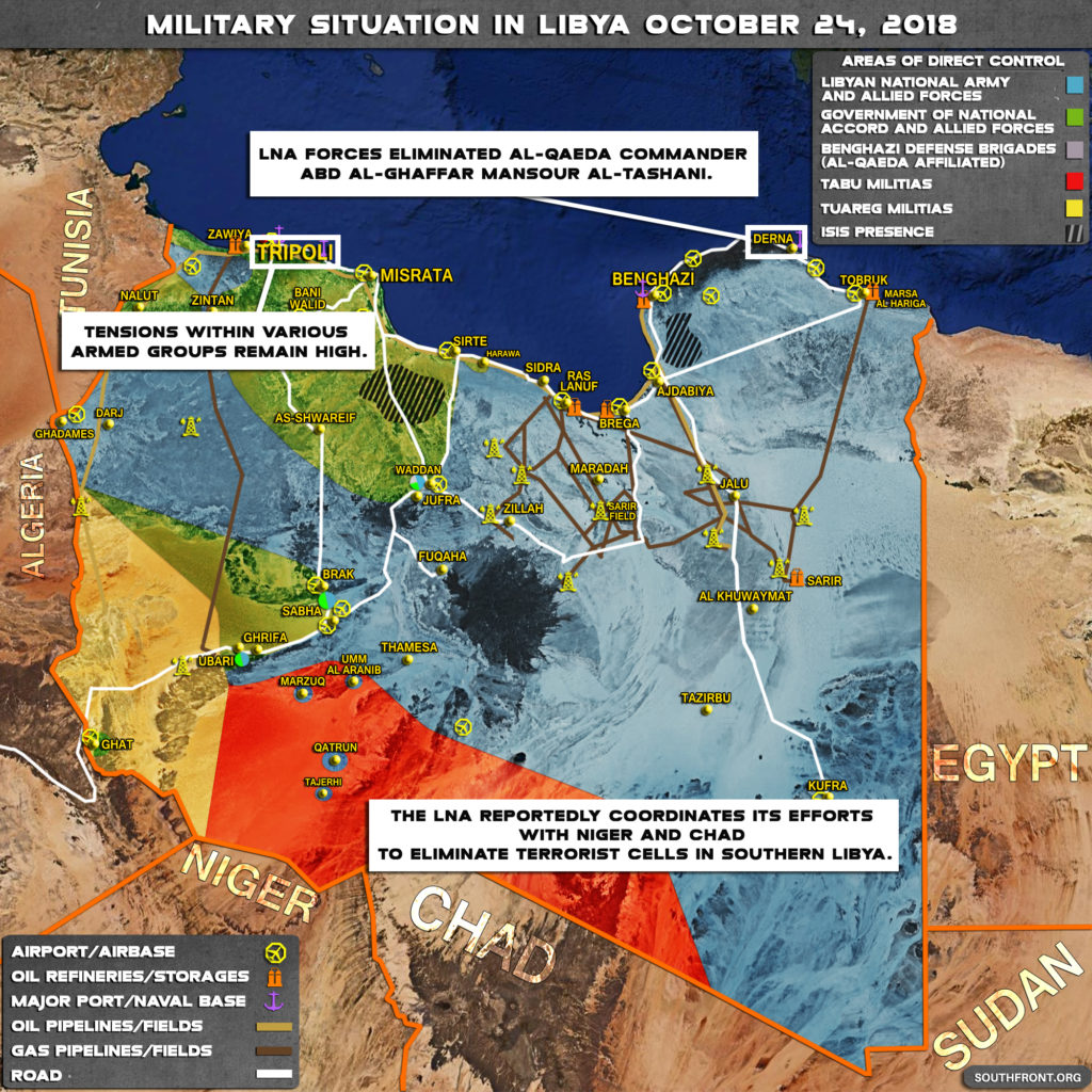 LNA Works With Chad And Niger To Eliminate Terrorist Cells In Southern Libya (MAP)