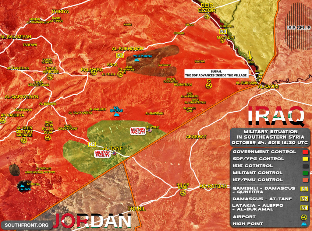 US-backed Forces Capture Most Of As-Susah Village In Euphrates Valley From ISIS (Map)
