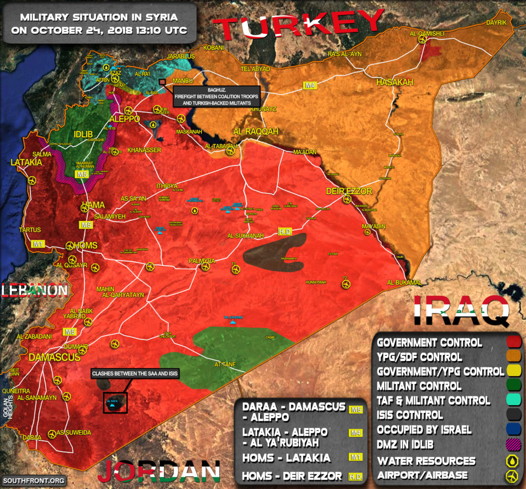 Military Situation In Syria On October 24, 2018 (Map Update)