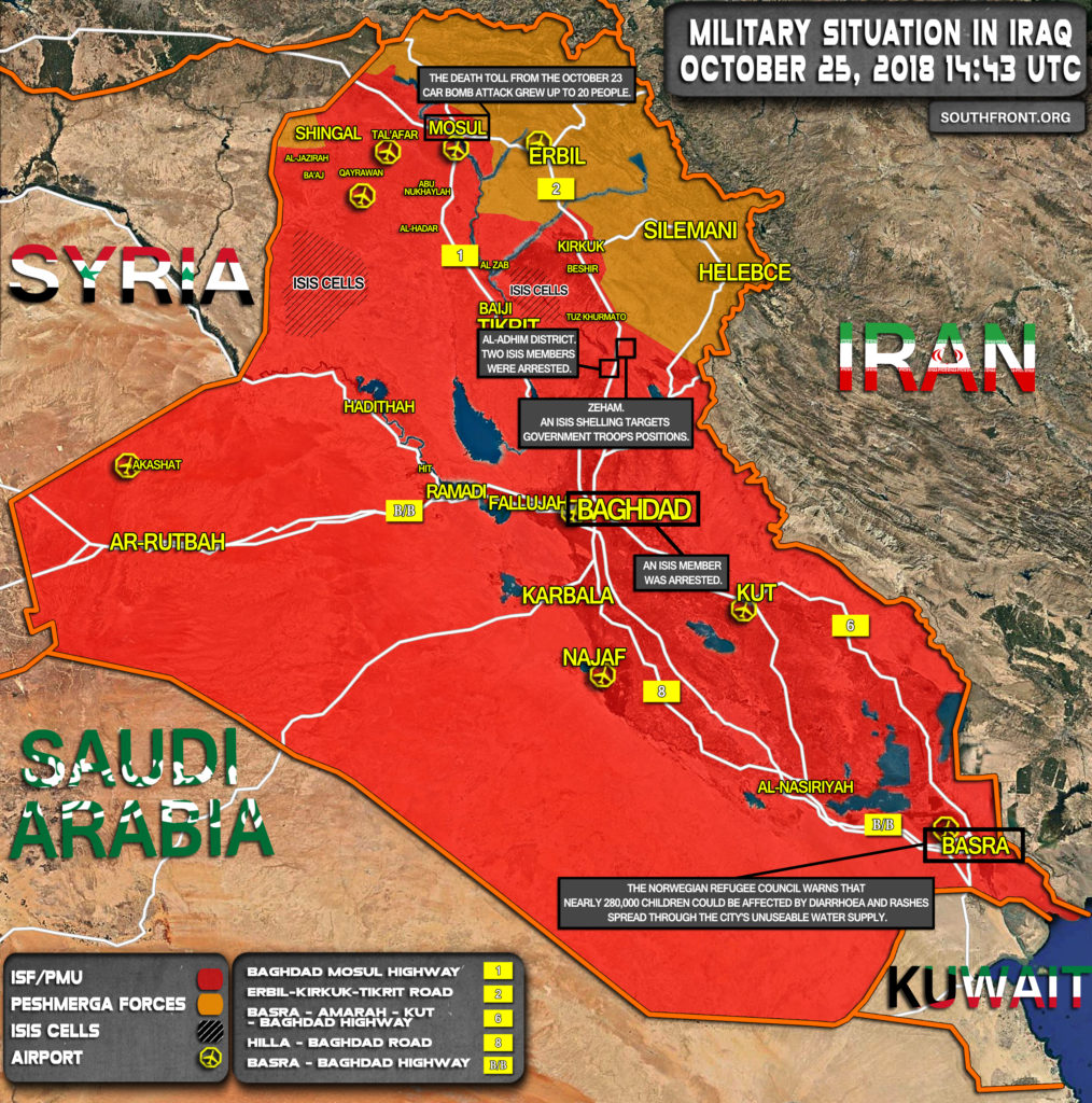 Security Forces Continue Crackdown On ISIS Cells Across Iraq (Map Update)