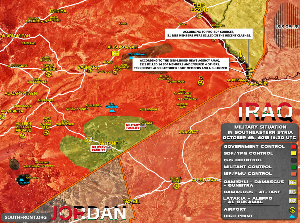 Map Update: US-backed Forces Advance On ISIS Positions In Euphrates Valley