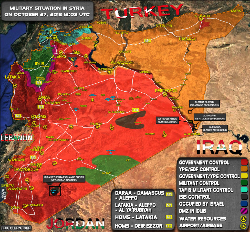 Map Update: Military Situation In Syria On October 27, 2018