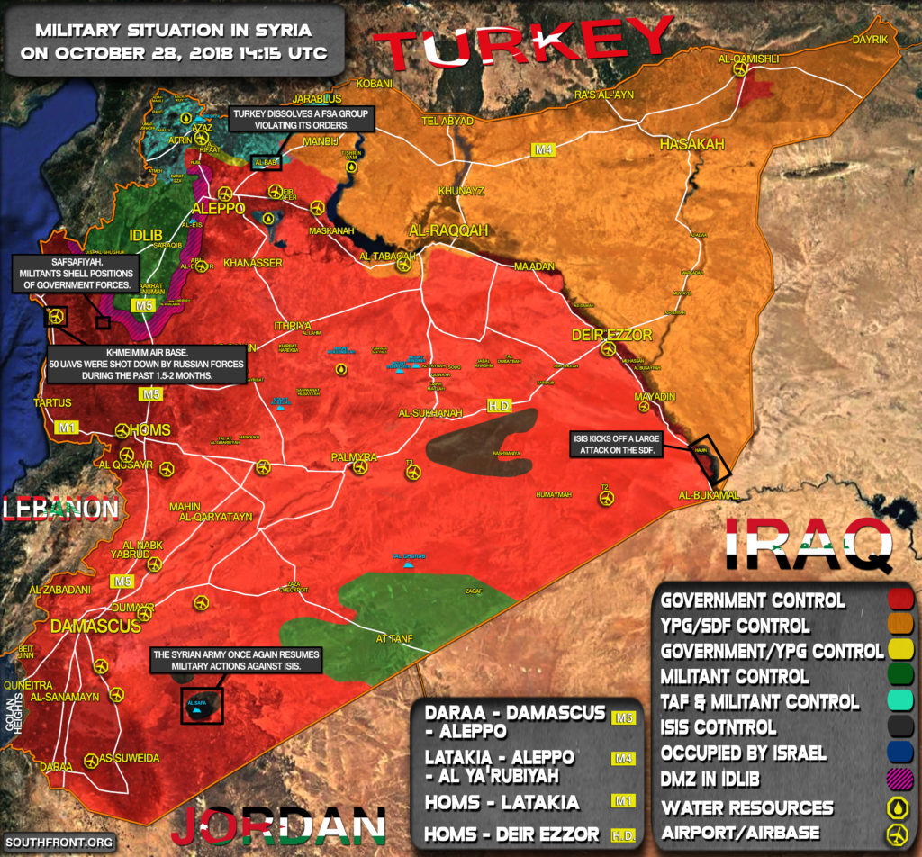 Map Update: Military Situation In Syria On October 28, 2018