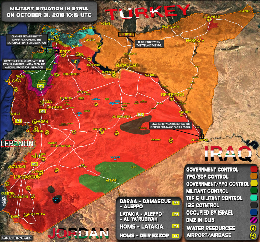 Military Situation In Syria On October 31, 2018 (Map Update)