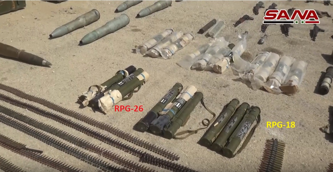 Syrian Army Uncovers Loads Of Weapons In Hama, Al-Suwayda And Deir Ezzor (Video, Photos)