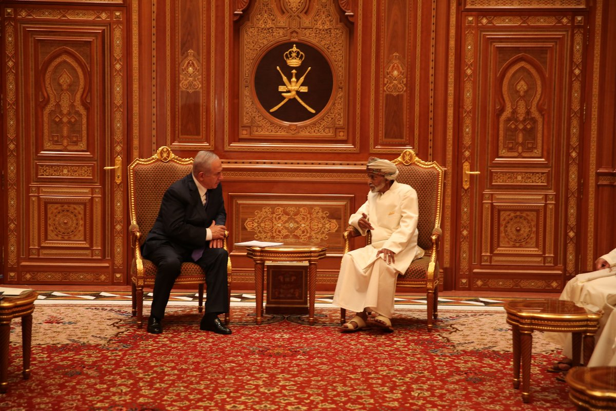 Israel Prime Minister Makes Surprise Visit To Oman. This May Be Part Of Indirect Negotiations With Iran