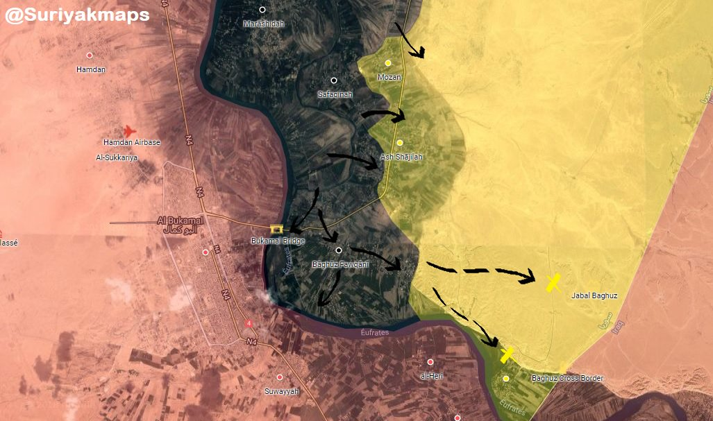 ISIS Captures 3 Villages In Euphrates Valley. SDF Operation Is Back To Square One (Map)