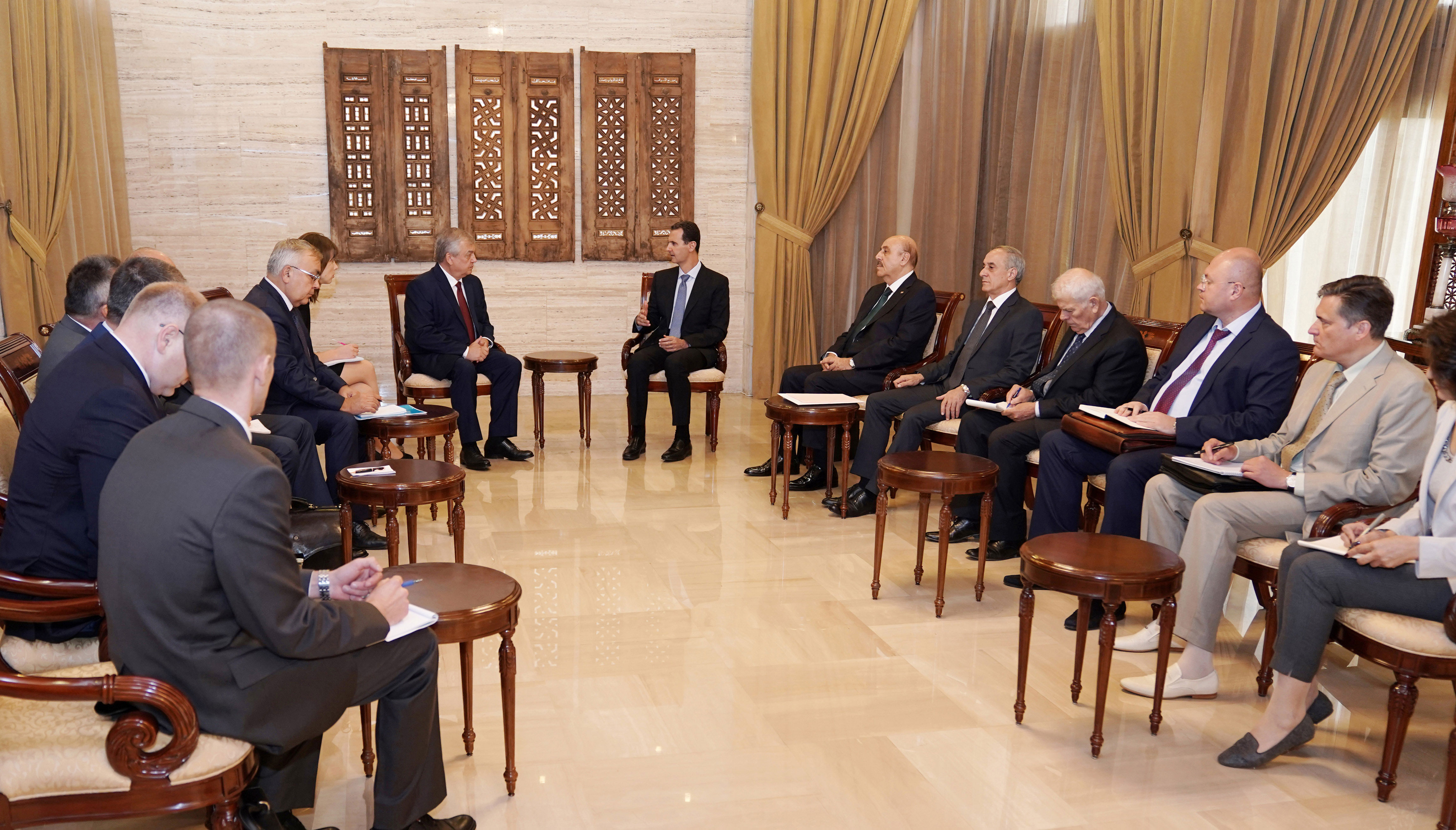 Assad Meets With Russian President's Special Envoy To Discuss Situation In Syria