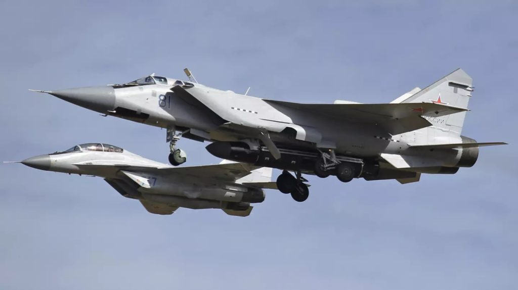 Russia's MiG-31 Spotted With Possible Air-Launched Satellite Killer