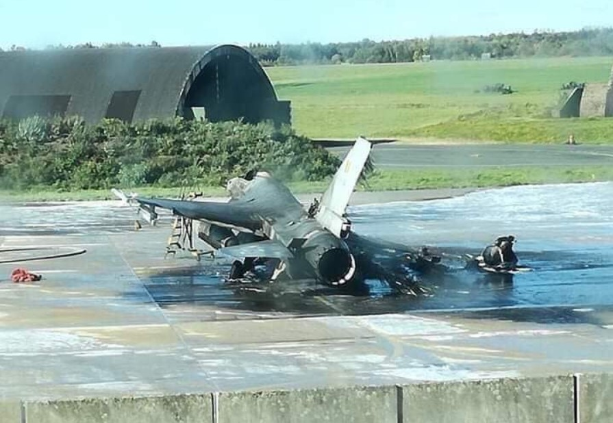 F-16 Jet Destroyed, Another Damaged At Belgium's Florennes Air Base After Another Jet Accidentally Opened Fire At Them
