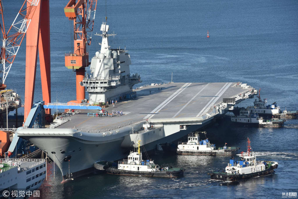 China's First Homemade Aircraft Carrier Conducting Sea Trials In Yellow Sea