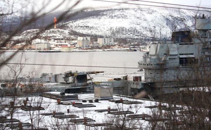 Repair And Modernization Of Russia's Sole Aircraft Carrier Is Reportedly Delayed Because Of Incident With Floating Dry Dock