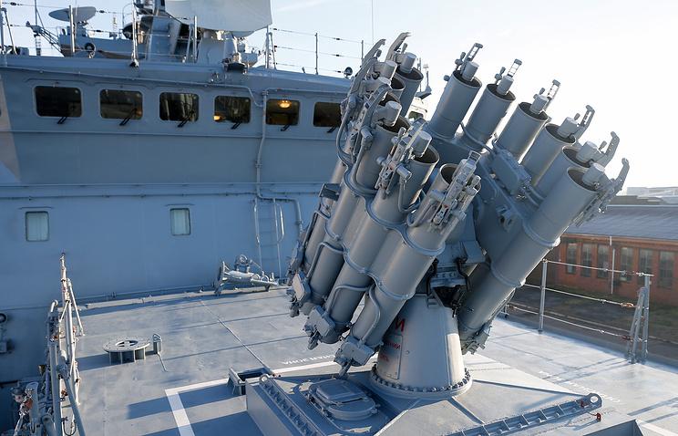 Frigates Of Russian Naval Task Force Holds Anti-Submarine Warfare Drills Near Syria