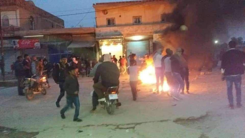US-backed Kurdish Armed Groups Open Fire At Arab Protesters In Syria's Al-Haskah Province