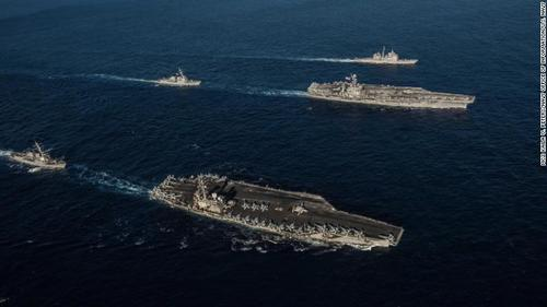 US Carrier Allowed Hong Kong Port Entry After Bombers Fly Over Contested Waters