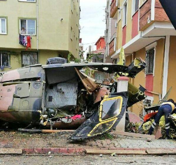 Military Helicopter Crashed In Turkey's Istanbul. 4 Servicemen Died (Photos)