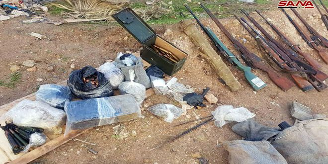 In Photos: Syrian Security Forces Discover Weapons Caches Left Behind By Militants In Homs, Damascus
