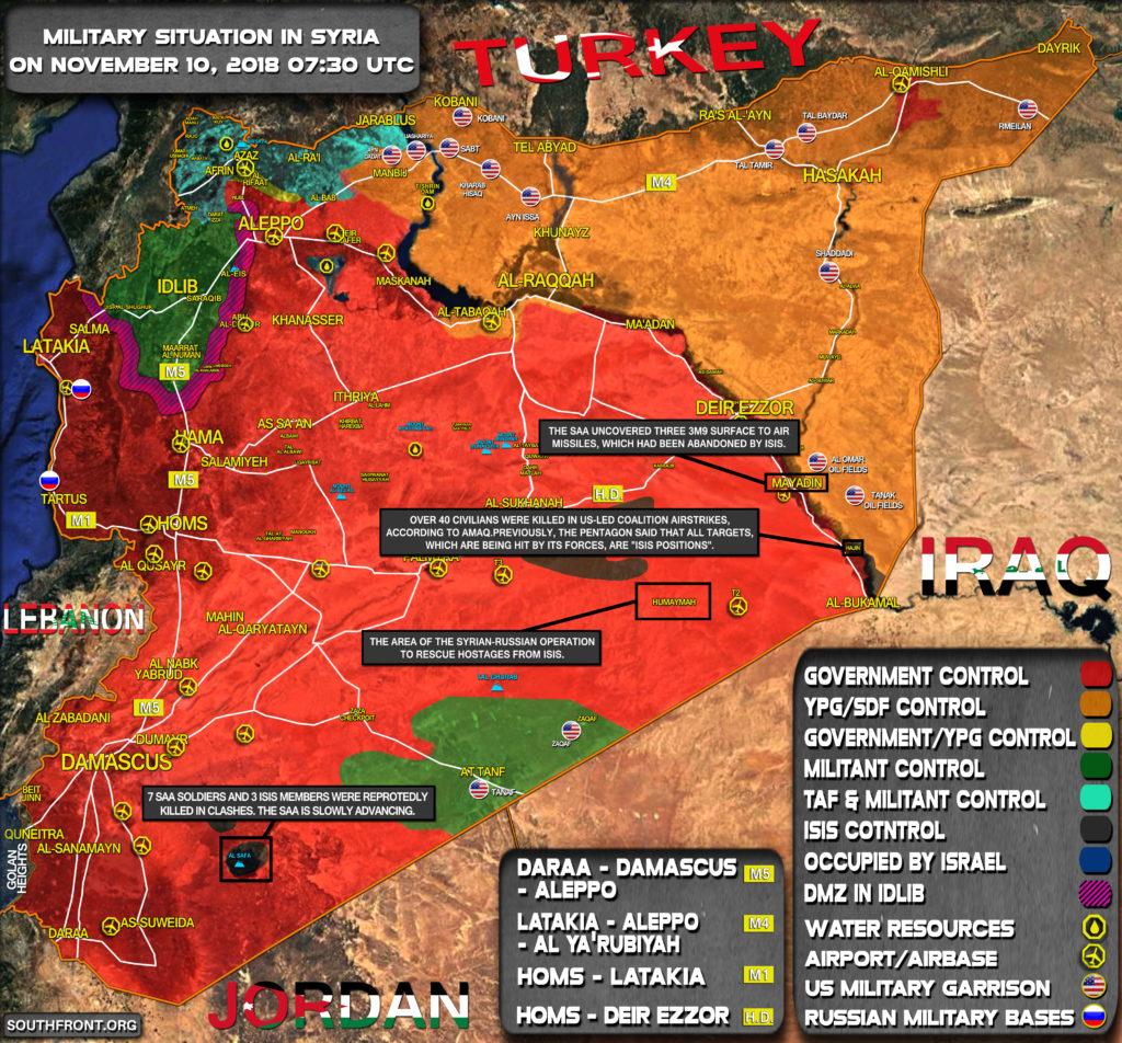 Map Update: Syrian Army Once Again Renews Its Attempts To Eliminate ISIS Cells In Central Desert