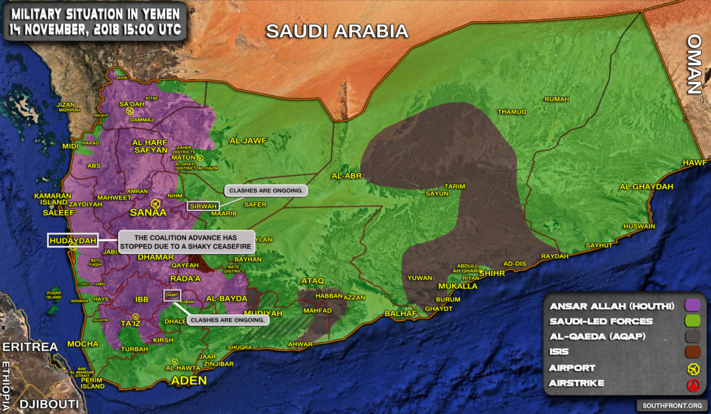 Saudi-led Coalition's Advance On Al-Hudaydah Slowly Appears To Be Another Failure (Map Update)