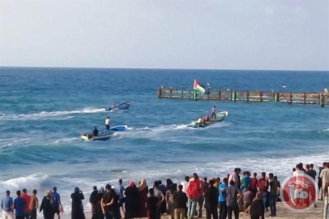 Israeli Forces Injured Over 20 Palestinians Protesting Against Israeli Maritime Blockade On Gaza