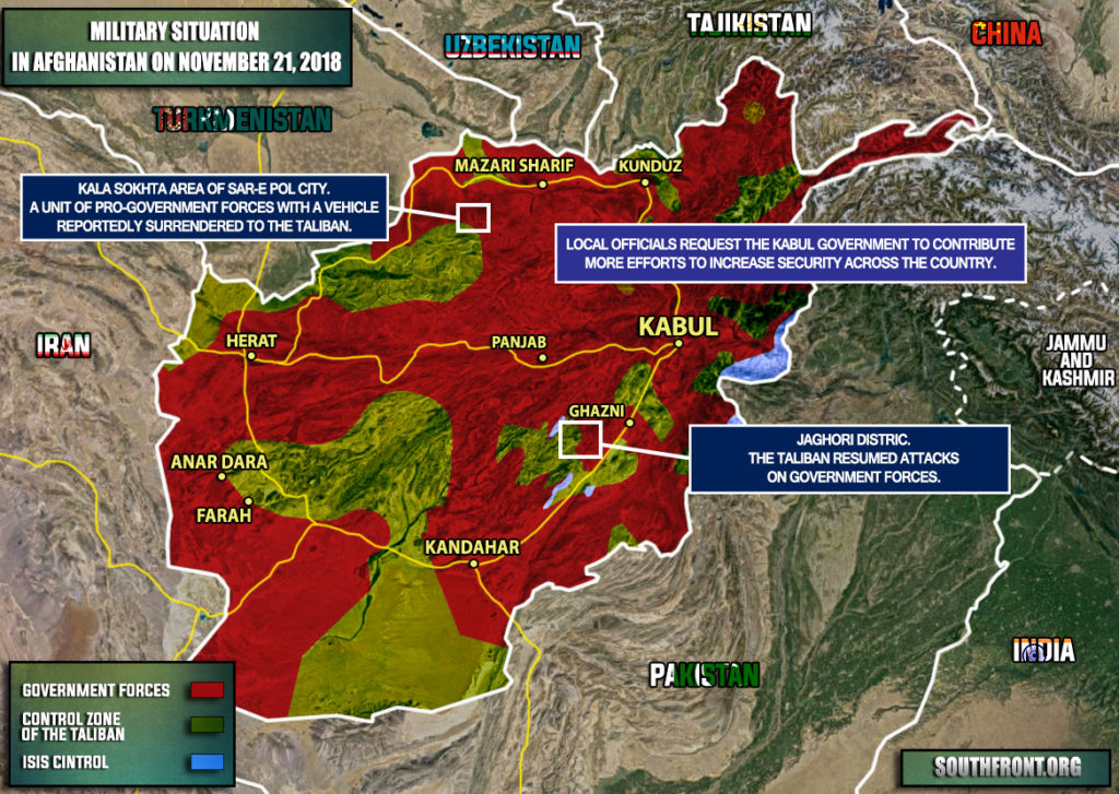 Military Situation In Afghanistan On November 21, 2018 (Map Update)
