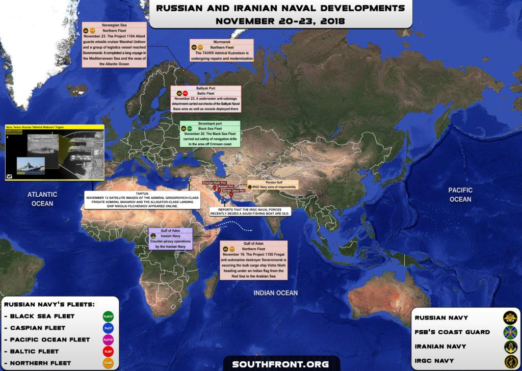 Iranian, Russian Naval Developments On November 20-23, 2018